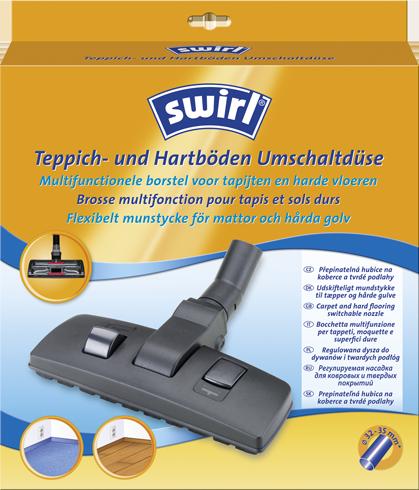 Multifunctionele borstelzuigmond voor tegels en harde vloeren