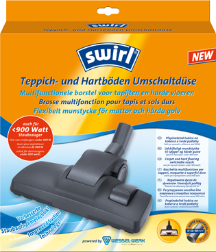 Swirl® verwisselbare mondstukken voor tapijten en harde vloeren