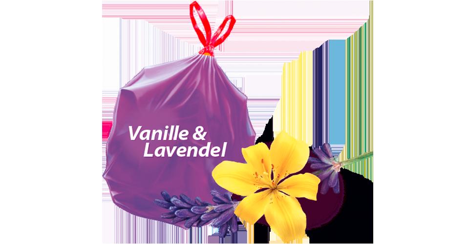 Scented bin liners Vanilla Lavender