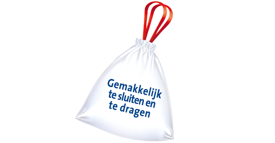 Bin liners with drawstring
